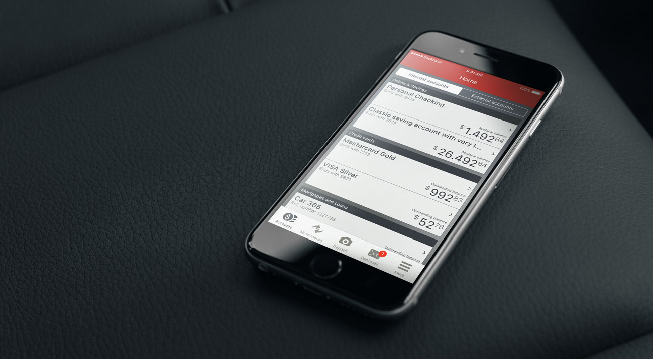 Mobile Banking app in situation